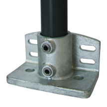 1 1/2inch (G40) C18 Base Flange with Toeboard Tube/Pipe Clamp