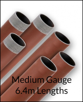 6.4m Red Oxide Medium Gauge Tube/Pipe