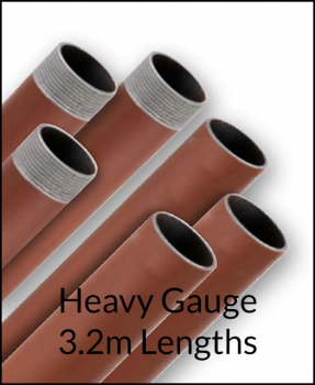 3.2m Red Oxide Heavy Gauge Tube/Pipe