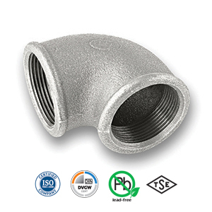 90° Galvanised FxF Elbow Malleable Pipe Fitting