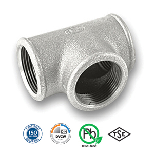 Galvanised Equal Tee Malleable Pipe Fitting