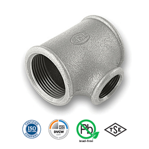 Galvanised Reducing Tee Malleable Pipe Fitting
