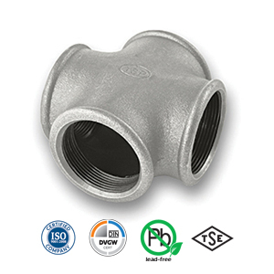 Galvanised Cross Malleable Pipe Fitting
