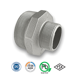 Galvanised Reducing Hexagon Nipple Malleable Pipe Fitting