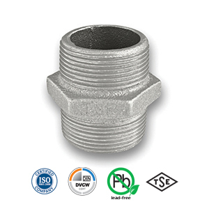 Galvanised Hexagon Nipple Malleable Pipe Fitting