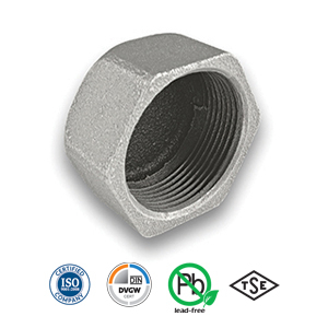 Galvanised Hexagon Cap Malleable Pipe Fitting