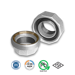Galvanised Spherical/Taper Seat Bronze/Iron Union Malleable Pipe Fitting