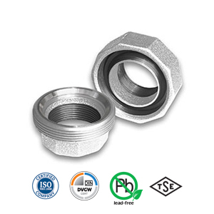 Galvanised Spherical/Taper Seat Iron/Iron Union Malleable Pipe Fitting