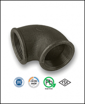 Black Malleable Iron Pipe Fittings EN10242 (BS1256)