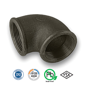 Black 90° FxF Elbow Malleable Pipe Fitting