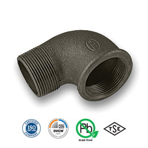 Black 90° MxF Elbow Malleable Pipe Fitting