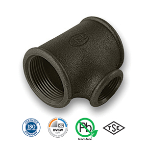 Black Reducing Tee Malleable Pipe Fitting