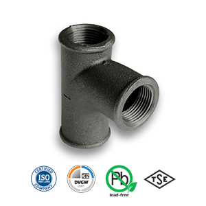 Black Pitcher Tee Malleable Pipe Fitting