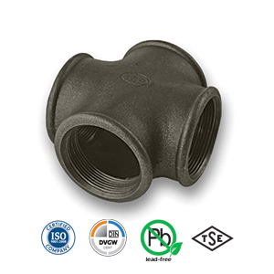 Black Cross Malleable Pipe Fitting