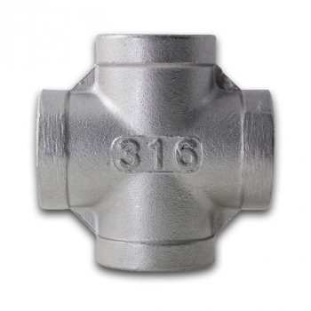 BSPP Equal Cross 150lb 316 Stainless Steel