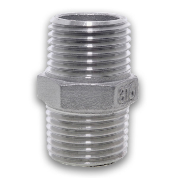 BSPT Hexagon Nipple 150lb 316 Stainless Steel