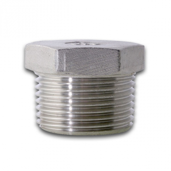 BSPT Hexagon Head Plug 150lb 316 Stainless Steel