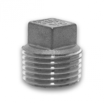 BSPT Square Head Plug 150lb 316 Stainless Steel