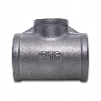 BSPP Equal Tee 150lb 316 Stainless Steel